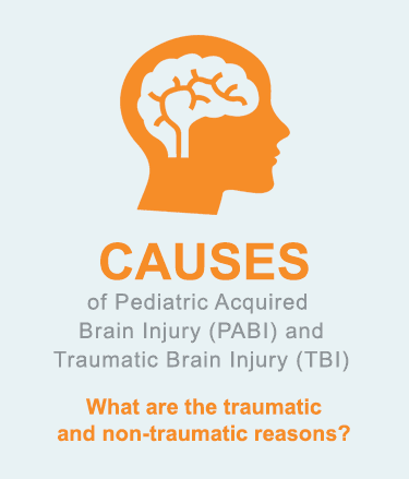CAUSES of Pediatric Acquired Brain Injury (PABI) and Traumatic Brain Injury (TBI)