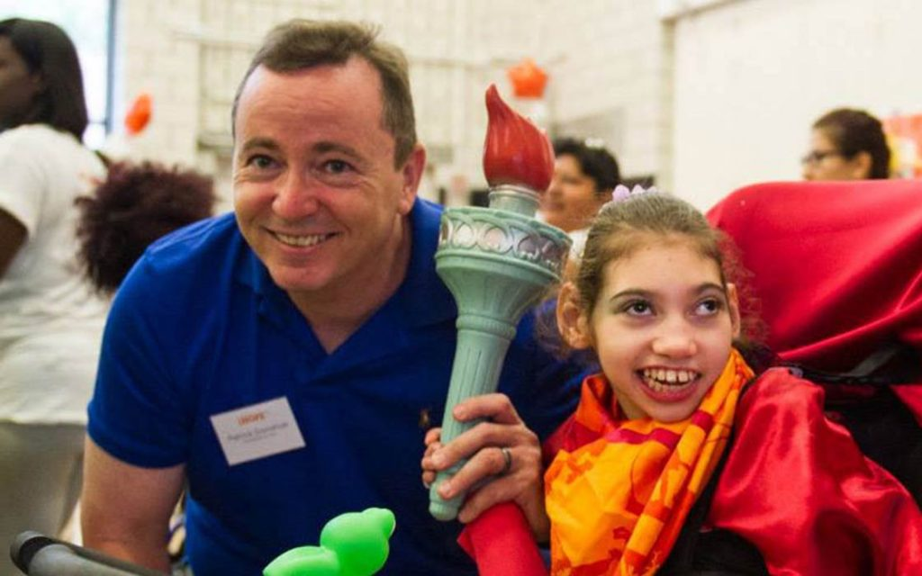 Patrick and Sarah Donohue at the iHOPE Olympics