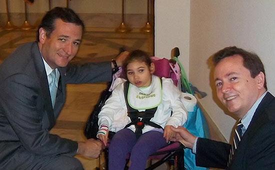 Patrick and Sarah Jane Donohue meet Sentor Ted Cruz